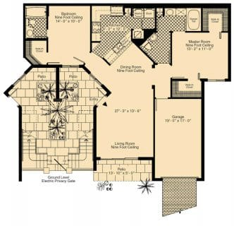 2 Bed / 2½ Bath / 1,207 sq ft / Rent: Call for Details